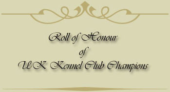 Roll of Honour of UK Kennel Club Champions